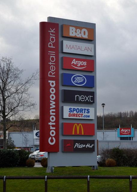 Cortonwood Retail Park Sign Cortonwood Terry Robinson