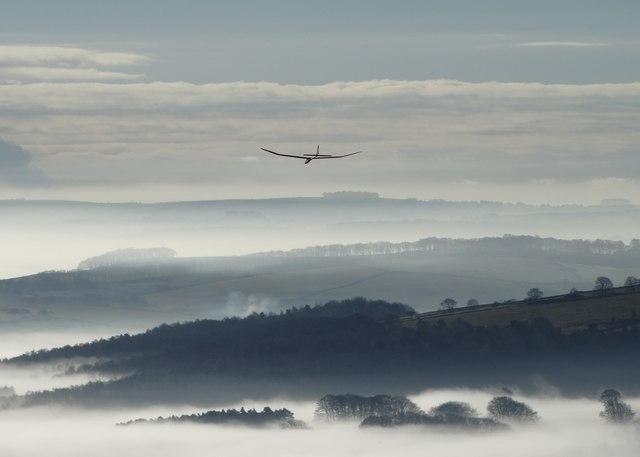 Model aeroplane at Stanage
