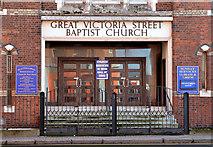 J3373 : Gt Victoria Street Baptist Church, Belfast - January 2014 (2) by Albert Bridge