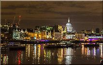 TQ3180 : River Thames near Blackfriars Bridge, London, SE1 by Christine Matthews