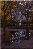 TQ3180 : South Bank Reflections, London, SE1 by Christine Matthews