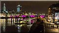 TQ3280 : The South Bank and Southwark Bridge from the Millennium Bridge, London, SE1 by Christine Matthews