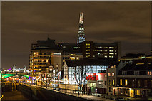 TQ3280 : The Globe Theatre on the South Bank from the Millennium Bridge, London, SE1 by Christine Matthews