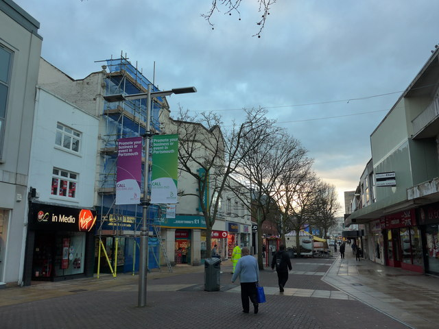 Commercial Road on a mild winter's morning
