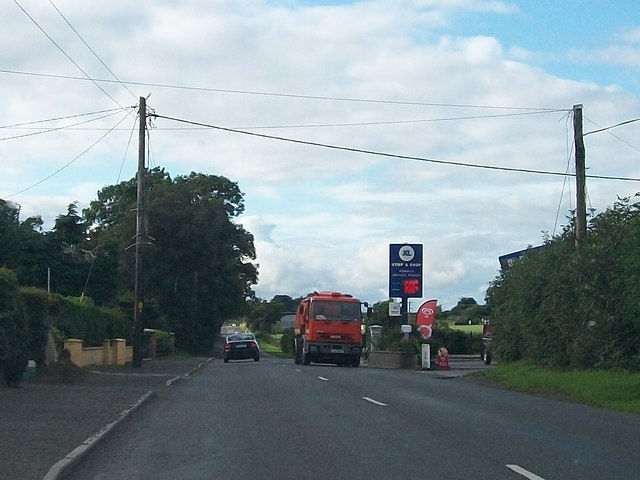 The R162 approaching Kilberry Service Station