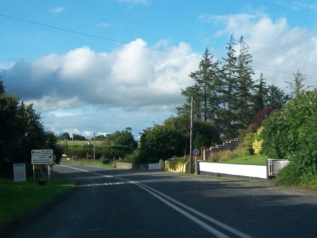 The R162 approaching the junction with L3401 south of Nobber