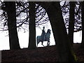 SU9672 : Windsor Great Park: George III rides through the trees by Chris Downer