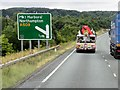 SP7578 : Westbound A14 approaching Junction 2 by David Dixon