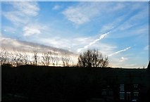 SJ9594 : Sunrise over Swains Valley & Werneth Low by Gerald England