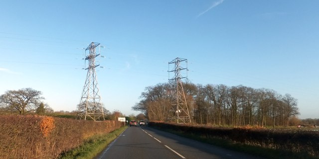 Pylons near Danemoor Cross