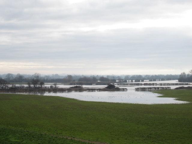 Fields in flood near Holt