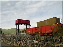 SH5752 : Water tower, Rhyd Ddu by nick macneill