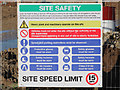 TQ7410 : Site Safety sign by Oast House Archive