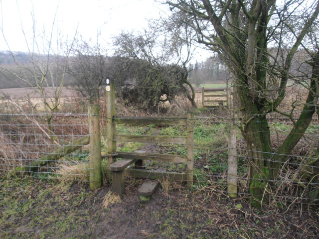 Crossing a disused railway line