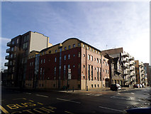 TQ3479 : New and old buildings, Old Jamaica Road, Bermondsey by Stephen Craven
