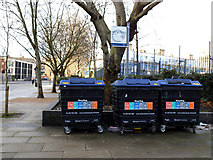 TQ3479 : Recycling point on Jamaica Road by Stephen Craven