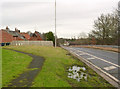 SK6528 : North-bound slip road at Widmerpool roundabout by Alan Murray-Rust