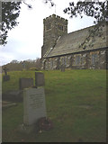 SD3389 : St Paul's Church, Rusland - the grave of Arthur Ransome by Karl and Ali