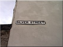 ST8993 : Old sign for Silver Street Tetbury by Paul Best