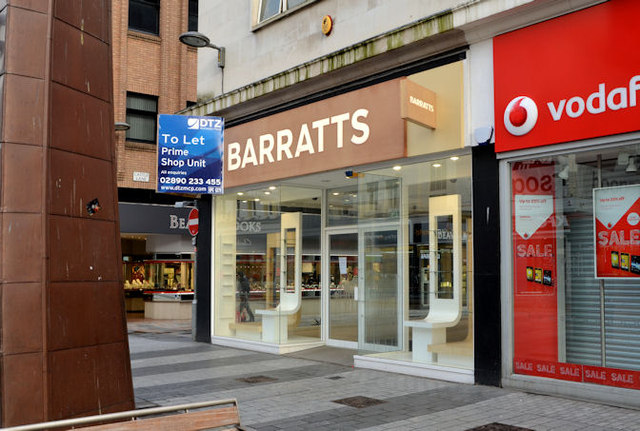 "Former ""Barratts"", Belfast - January 2014"