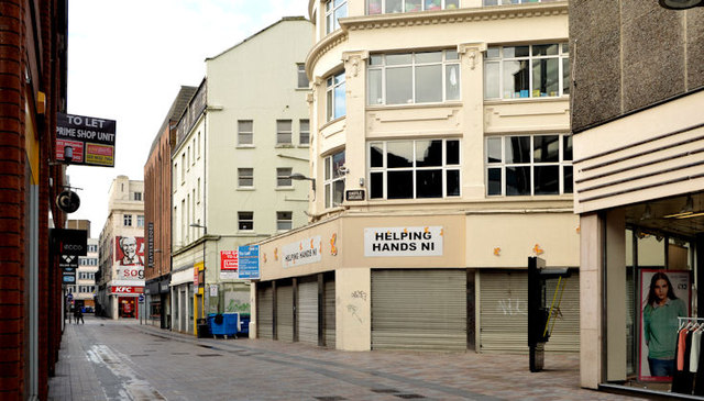 Shops to let, Castle Lane, Belfast - January 2014
