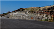 ST1166 : Remains of a building on The Promenade, Barry Island by Jaggery