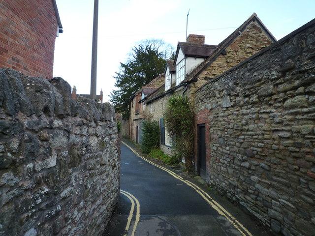 Silk Mill Lane, Ludlow by Maurice D Budden