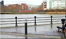 J3473 : Proposed footbridge across the River Lagan, Belfast - January 2014(1) by Albert Bridge