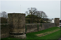 TR1457 : City Wall, Canterbury by Peter Trimming