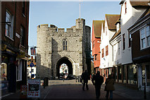 TR1458 : West Gate, Canterbury by Peter Trimming
