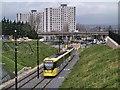 SD9204 : Metrolink Tram Approaching King Street by David Dixon