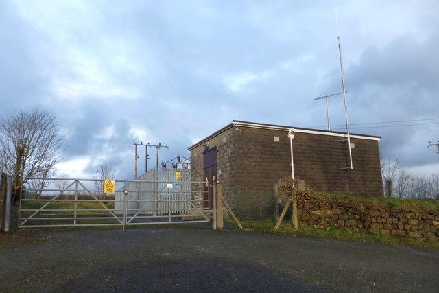 Electricity sub-station near Trethinna