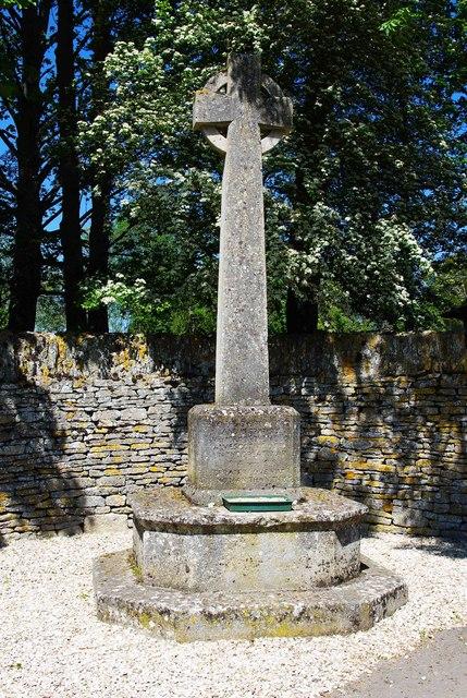 Alvescot War Memorial Cross (1), Main Road, Alvescot, Oxon