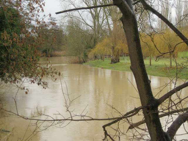 River Avon by Emscote Gardens, Warwick 2014, January 28, 12:31