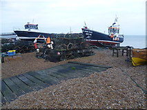 TR3752 : Pots on the beach at Deal by Marathon