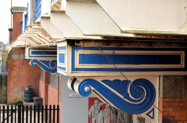 Ironwork detail, Tate's Avenue bridge, Belfast
