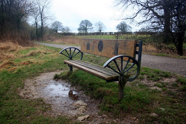 Seat beside the Tissington Trail