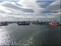 NJ9505 : Aberdeen: across the harbour from the departing ferry by Chris Downer