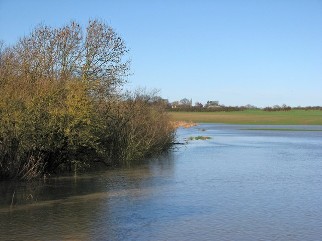 Floodwater at Lord's Bridge