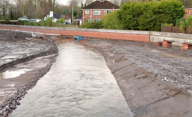 The diverted Knock River, Orangefield Park, Belfast (1)