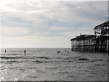TQ3003 : West Pier by Simon Carey