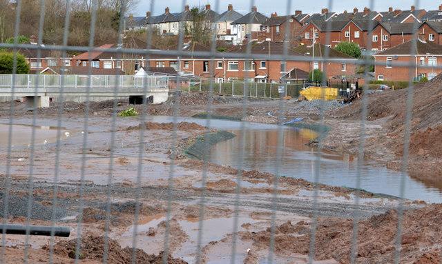 The diverted Knock River, Orangefield Park, Belfast (3)