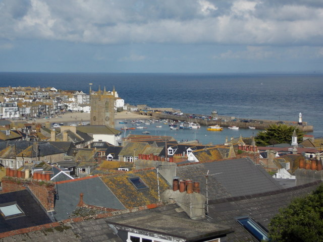 St. Ives: view over the town from Park Avenue