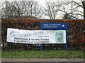 TM2145 : Kesgrave Community & Conference Centre Sign by Adrian Cable