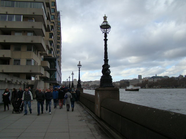 View along the South Bank towards Westminster
