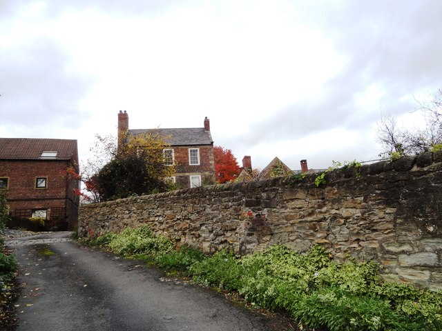 Road up to Crook Hall