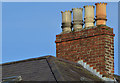 J3372 : Chimneys and chimney pots, Belfast - February 2014(2) by Albert Bridge