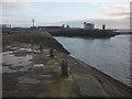 SD3960 : North Round Head, Heysham Harbour by Karl and Ali