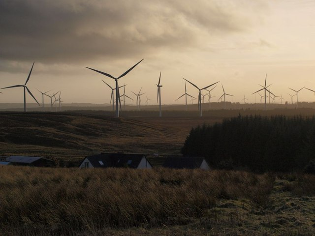 Whitelee windfarm from Myres Hill
