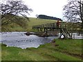NT9503 : Footbridge over the River Coquet by Russel Wills